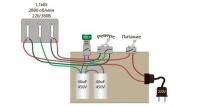 Схема подключения электродвигателя с 380 на 220 с реверсом